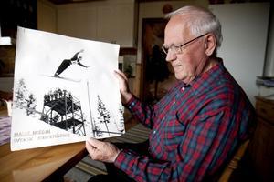 Hans Nordin har varit en duktig backhoppare och deltog 1952 i Olympiska vinterspelen i Norge, 1952, där han kom på en elfte plats.