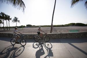 Sightseeing på två hjul i Miami.