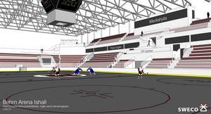 Så här ska Behrn arena ishockeystadion se ut nästa säsong.