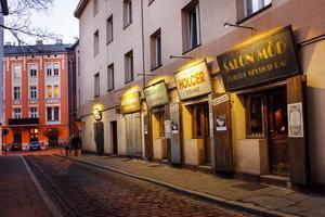 Inte alla hittar till de små trånga gatorna i Kazimierz, Krakow.