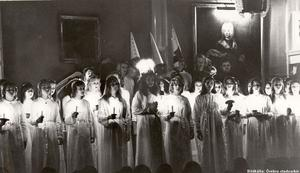 Luciafirande på Karolinska läroverket 1972.