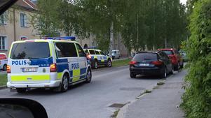 Polisinsats på Oskarsvägen.