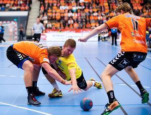 Rimbos Jeff Tollbring (i gult) gjorde en mycket bra match i Kristianstad.