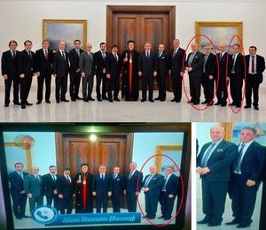 På det övre officiella fotografiet från turkiska presidentens hemsida står biskop Yusuf Cetin och president Abdullah Gül i mitten. Längst till höger står Robert Halef, riksdagsledamot, Hobil Rhawi, Assyriska riksförbundet, Sait Susin, syrisk-ortodoxa stiftet i Istanbul samt Kenan Anter, Syrianska riksförbundet och Nail Yoken, Assyriska riksförbundet.Men när tv-kanalen Suryoyo sat visade bilden var den manipulerad. Kenan Anters överkropp har flyttats intill Robert Halef där Hobil Rhawi stod, men Rhawis ben och hand är kvar.