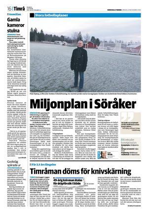 Sundsvalls Tidning 21 november 2012.