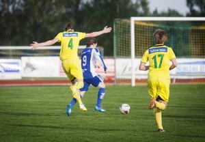 Victor Molin Engman, nummer 9 i Forsa, satte lagets enda mål i matchen mot Ljusdal.