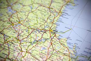 Karta över en del av ett land som kanske skribenten tänker på.