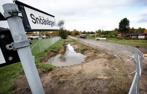 Häromdagen stängdes Snöåvägen av på en sträcka om cirka 200 meter och blir förmodligen avstängd ett par månader framåt.