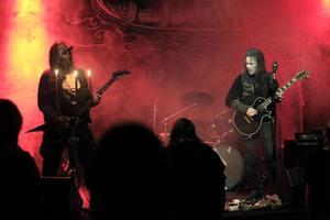 Stockholmsbaserade black metal-bandet Grá spelade på Gamla Tingshuset tillsammans med Mephorash och Defueld.