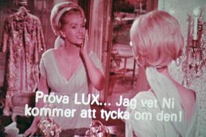 Lux var ett av företagen vars reklamfilm visades under visningen.