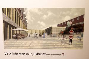 Så här skulle en del av Östersunds sjukhus kunna se ut i framtiden.