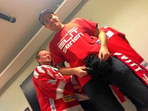 Markus Gustavsson skippar skägget och laddar om för en ny hockeysäsong. I SHL.