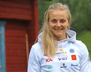 Stina Nilsson under landslagsläger i Vålådalen