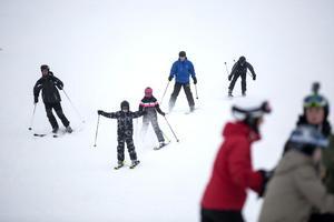 Nerfarterna var fyllda med slalomåkare under jubileumsdagarna.