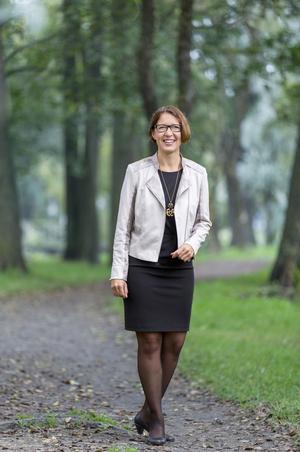 Christina Forsberg, CSN, är i Washington för att informera om hur man skapar ett bra system för studielån.