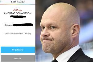 Tränare i Modo Hockey Andreas Johansson.