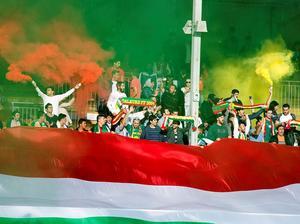 Och även Dalkurd hade mycket supportrar på plats på Domnarvsvallen. Bild: Mikael Forslund