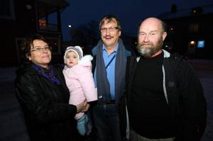 Margareta Persson med dotter, Lars Olof Eliasson och Mats Bylund var nöjda efter en givande dag.Foto: Håkan Degselius