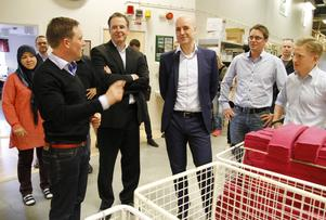 Adam Brånby, Woolpower, Anders Borg, Fredrik Reinfeldt och Linus Loveblad från Woolpower