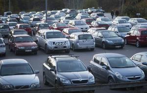 Ordning och reda... Så här ska det se ut på en parkeringsplats.
