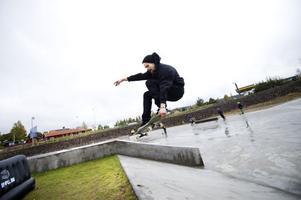 Niklas Ehnberg, 26, hade åkt hela vägen från Bollnäs för att åka i parken.