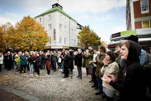 Det var en kylig höstdag i går, men talarna vid manifestation för Brunnsviks bevarande fick värmande applåder av de cirka 150 åhörarna.