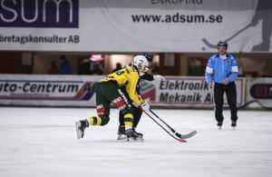 Fredrik Hansson satte Ljusdals ledningsmål i första halvlek.