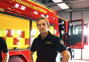 Christer Hedén, huvudförhandlare för Brandmännens riksförbund, Södra Dalarna, och brandman i Avesta.