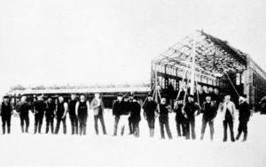 Fabriken började byggas vintern 1900