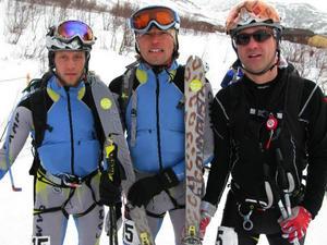 Det segrande lagets medlemmar: Björn Gund, Urban Axelsson och Patrik Nordin.