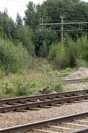 Här är smitvägen över järnvägsspåren i Laxå. När det blir en omlastningsterminal här så försvinner smitvägen till Esab.