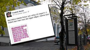 Den här texten länkade den socialdemokratiske politikern Fredrik Norén på sin Facebook-sida för några dagar sedan. I dag avgick han.