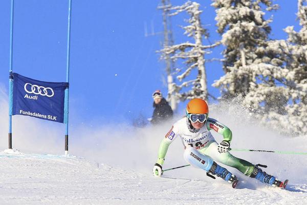 Meta Hrovat från Slovenien vann måndagens storslalom i Funäsdalen.