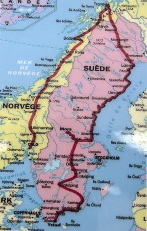 Phil Shaws resväg genom Skandinavien