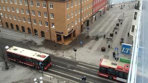 Storgatans början är numera gågata.