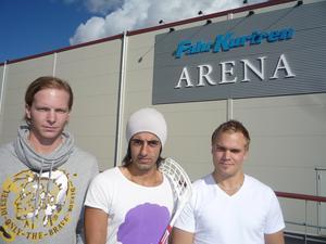 De tre musketörerna från Alfta spelade flera säsonger tillsammans i IBF Falun när klubben startade sin resa mot toppen: Patrik Malmström, Ciya Hajo och Kristoffer