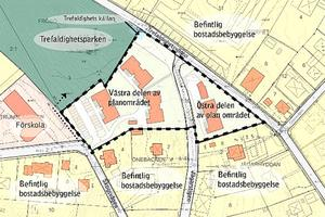 Mitt i Frösöns centralaste delar vill Östersunds kommun möjliggöra att det byggs 16 lägenheter.