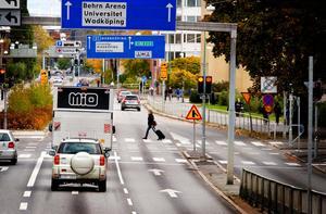 Olyckan ägde rum i korsningen Rudbecksgatan-Kungsgatan.
