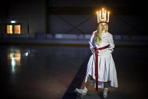 Elly Olsson kommer från Frösön och ska vara IF Castors Lucia på måndag i A-hallen i nya arenan. Foto: Stefan Nolervik