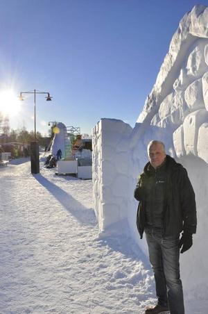 Nu på lördag kickar man i gång vinterparken, Håkan Åvall har höga förhoppningar om alla de nya aktiviteterna.