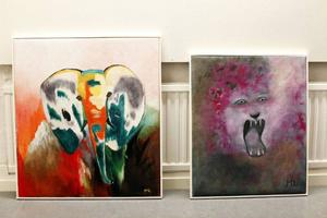 Maud Lundin målar helst djur.