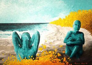 Urbn Arts visar Ingemar Huss surrealistiska måleri i tusch och akryl