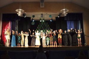 Hela ensemblen från Stenhamreskolans estetiska profil. Foto: Könul Fadai
