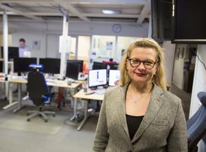 Gefle Dagblads chefredaktör Anna Gullberg.