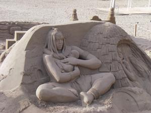 Ett riktigt fint konstverk på Las Canteras stranden i Las Palmas!