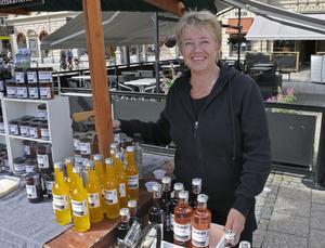 Saft, sylt och annat gott fanns i Ulla Lahtis skafferi.