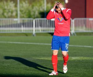 Herish Kuhi missade ett friläge mot Carlstad.