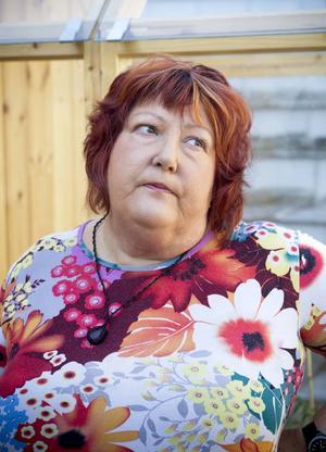 Anette Svedinger, ägare till Söders Källa och initiativtagare till terrassodlingen.