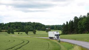 Den nya lastbilens utseende är än så länge hemligt. Bilen på bilden är en annan Scania-modell.