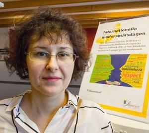 Adina Dragoescu, internationell bibliotekarie i Fagersta.